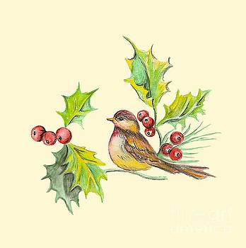 Bird Holly And Berries by Dale Jackson