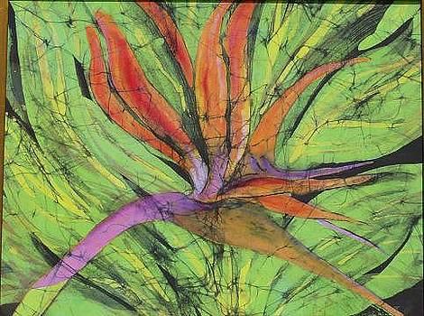 Bird of Paradise III Fine Art Batik by Kay Shaffer