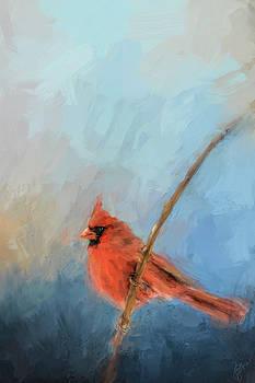 Jai Johnson - Bird On A Branch Cardinal Art