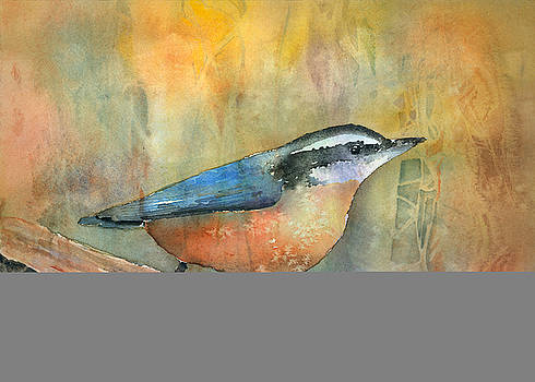 Bird On A Log by Arline Wagner