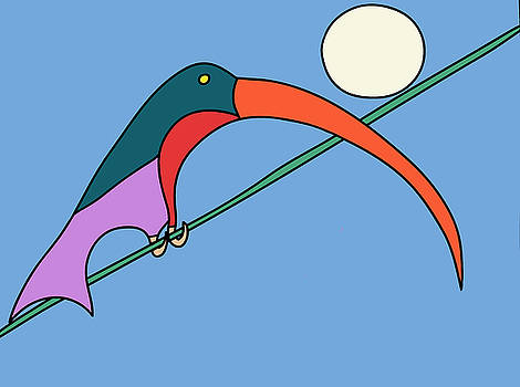 Bird on a wire by Nicholas Brockbank