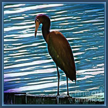 Bird on Blue by Leslie Revels