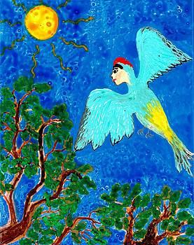 Sushila Burgess - Bird people Green woodpecker