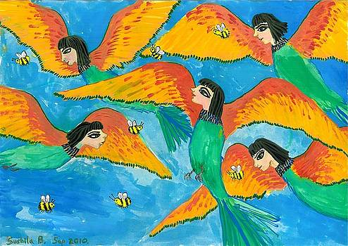 Sushila Burgess - Bird people Little Green Bee Eaters of Upper Egypt