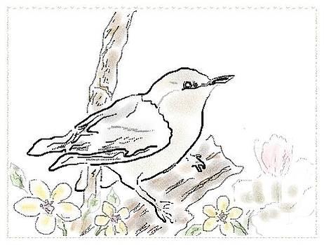 Bird Sketch 8 by Shishir Thadani