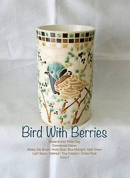 Bird With Berries by Teresa Tromp