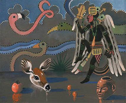 Birdman with Deer by Maury Hurt