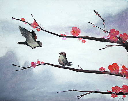 Birds and Blossoms by Kristine Mueller Griffith