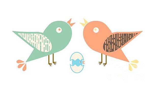 Birds and egg by Gaspar Avila