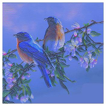 Birds And Flowers by Ck Gandhi
