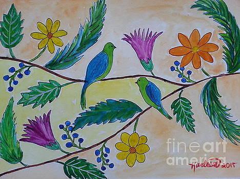 Birds and Flowers by Karleen Kareem
