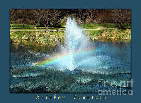 Felipe Adan Lerma - Birds and Fun at Butler Park Austin Rainbow Fountain Greeting Card Poster