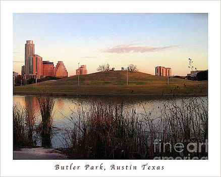 Felipe Adan Lerma - Birds and Fun at Butler Park Austin - Silhouettes 1 Poster and Greeting Card