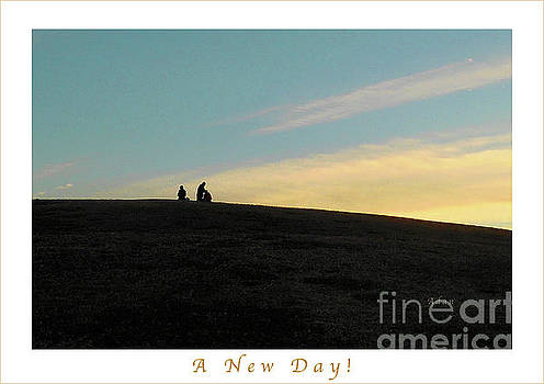 Felipe Adan Lerma - Birds and Fun at Butler Park Austin - Silhouettes 2 Detail Greeting Card Poster - A New Day