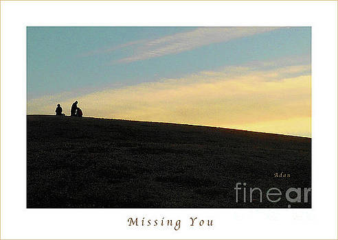 Felipe Adan Lerma - Birds and Fun at Butler Park Austin - Silhouettes 2 Macro Greeting Card Poster - Missing You