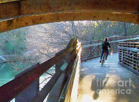 Felipe Adan Lerma - Birds Boaters and Bridges of Barton Springs - Bridges One