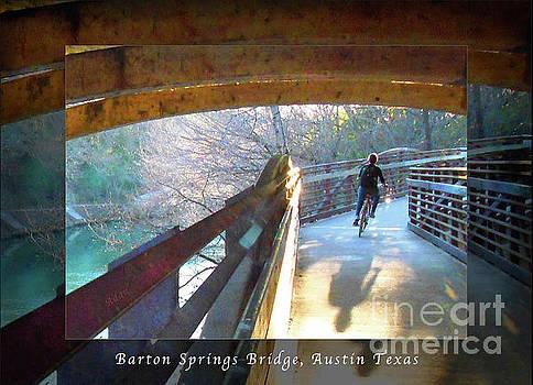 Felipe Adan Lerma - Birds Boaters and Bridges of Barton Springs - Bridges One Greeting Card Poster v1
