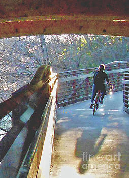 Felipe Adan Lerma - Birds Boaters and Bridges of Barton Springs - Bridges One Vertical v1