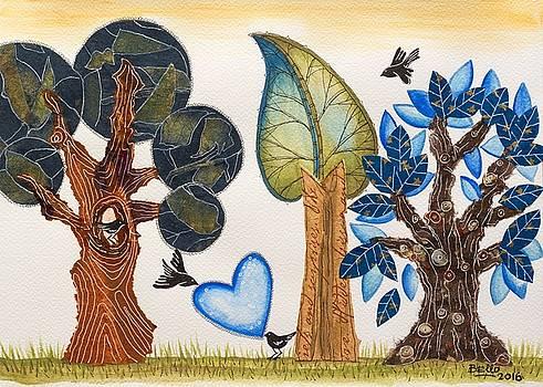 Birds in love by Graciela Bello