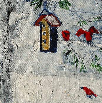 Birds in Snow by Angela Annas