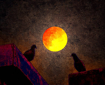 Bliss Of Art - Birds Moon and Love