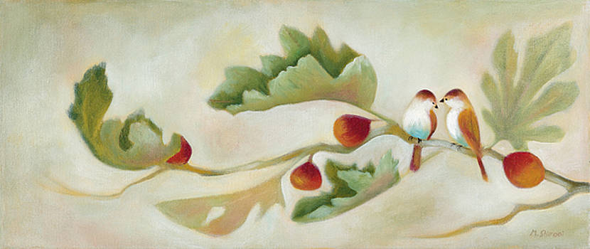 Birds on a Fig branch by Michal Shimoni