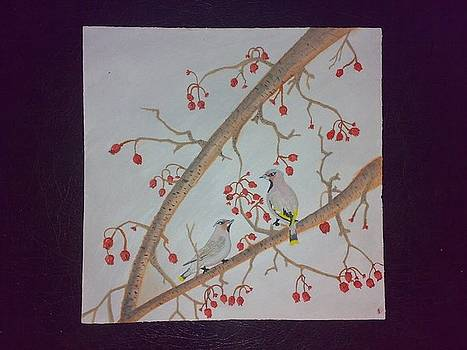 Birds on a tree by Indhu Frank