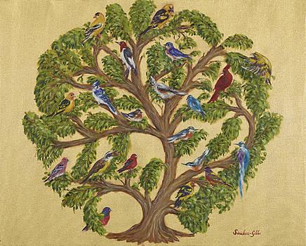 Birds on a Tree of Life by Maria Gibbs