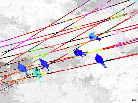 Birds on the Wire by Daniel Janda