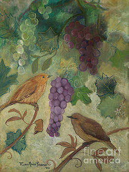 Birds with Grapes  by Robin Maria Pedrero