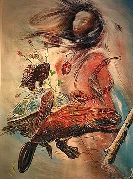 Birth Totem - Beaver by Elizabeth Silk