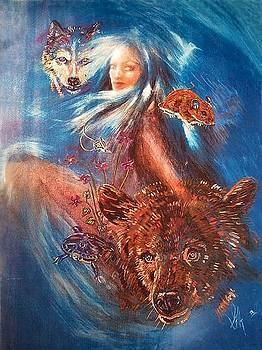 Birth Totem - Brown Bear by Elizabeth Silk