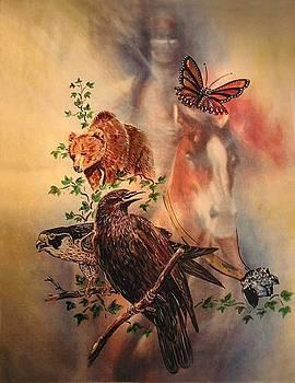 Birth Totem - Crow by Elizabeth Silk