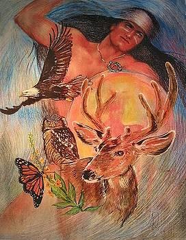 Birth Totem - Deer by Elizabeth Silk