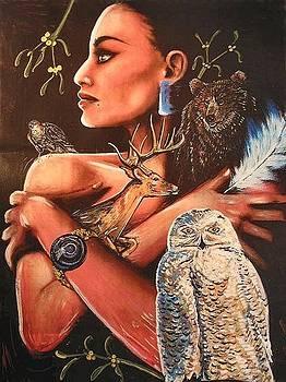 Birth Totem - Owl by Elizabeth Silk