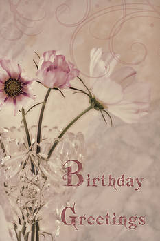 Sandra Foster - Birthday Greetings - Cosmos