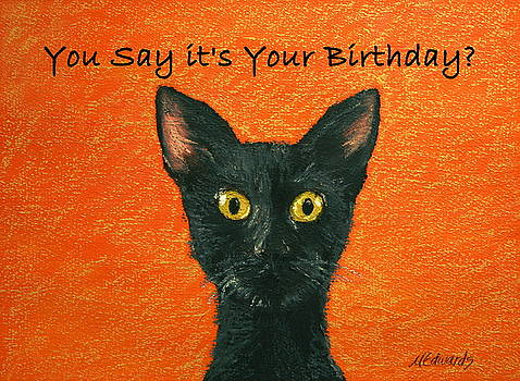 Birthday Kitty by Marna Edwards Flavell