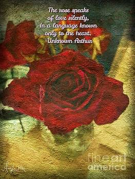 Birthday Roses with poem  by MaryLee Parker