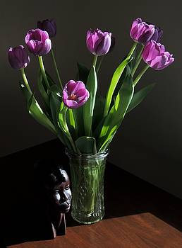 Birthday Tulips. by Denise Clark