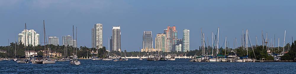 Biscayne Bay at Miami Yatch Club by Ed Gleichman