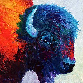 Marion Rose - Bison Head Color Study I