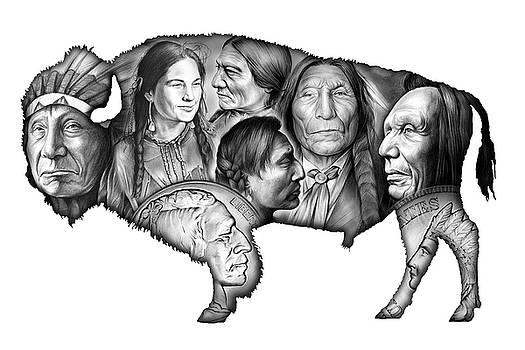 Greg Joens - Bison Indian Montage