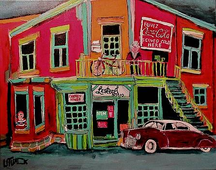 Bistro in Lachine on Notre Dame by Michael Litvack