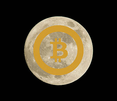 Bitcoin to the Moon by Britten Adams