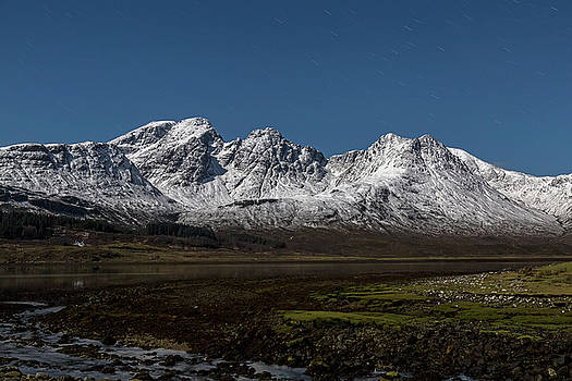 Bla Bheinn Blaven By Moonlight by Derek Beattie