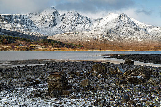 Bla Bheinn, Blaven, in the Snow by Derek Beattie