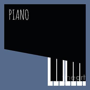 Benjamin Harte - Black and blue piano