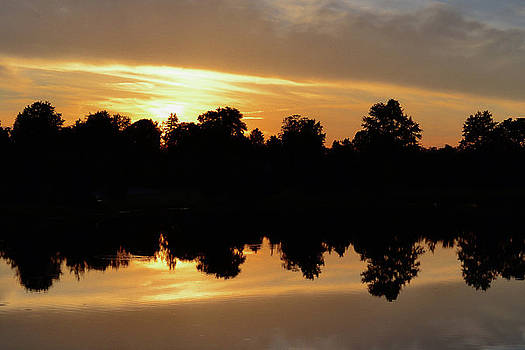 Black and Orange Reflection by Michael Hills