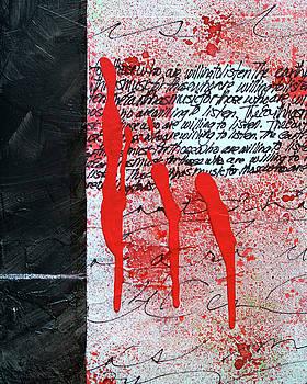 Black and Red 8 by Nancy Merkle