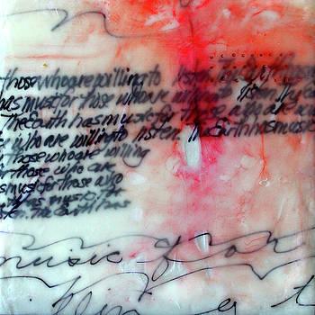 Black and Red Encaustic 1 by Nancy Merkle